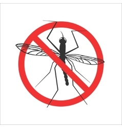 mosquito stop symbol or sign vector image vector image