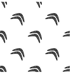 australian boomerang icon in black style isolated vector image vector image