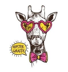 Hipster animal poster vector