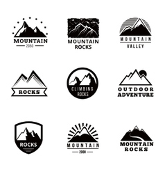 Mountains logo badges and emblems set vector image