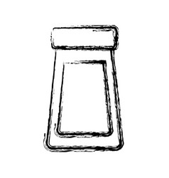 bottle glass cover plastic object icon vector image vector image