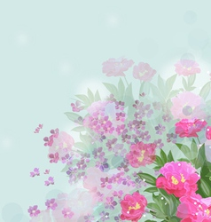 Flower of happiness vector image vector image
