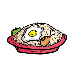 fried rice vector image vector image
