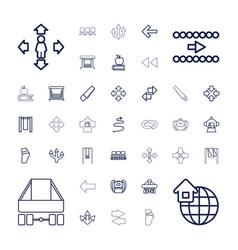 37 back icons vector