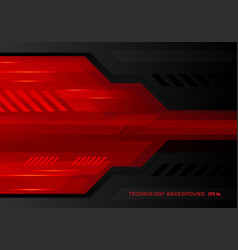 abstract technology metallic red black contrast vector image