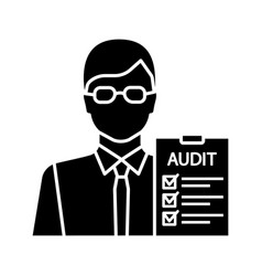 Auditor glyph icon vector