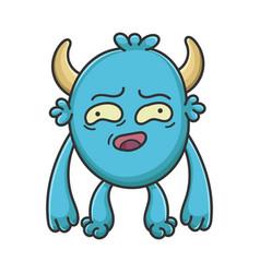 Awkward cartoon furry creature monster vector