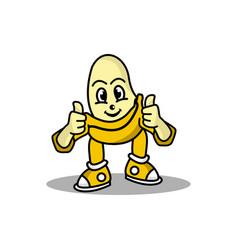 Banana mascot design vector