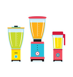 blender juicer mixer kitchen appliance icon set vector image
