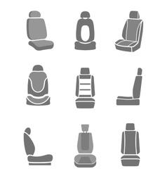Car mirror icons vector