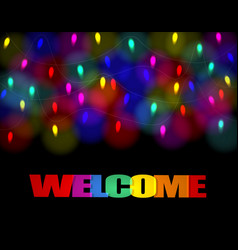 christmas carnival holiday garland lights the vector image