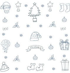 Christmas hand draw set in doodle vector