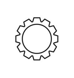 cogwheel white icon vector image