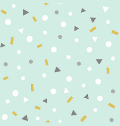 confetti pattern party seamless background vector image