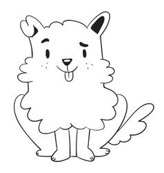 Cute Dog Sitting vector image