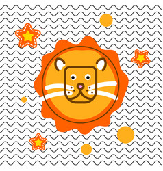 cute lion head t-shirt print design vector image