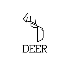 deer monogram vector image