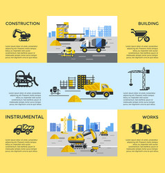 digital blue yellow construction vector image