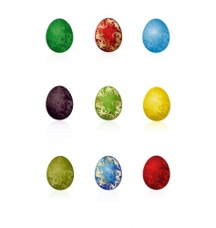 Easter eggs with pattern vector image