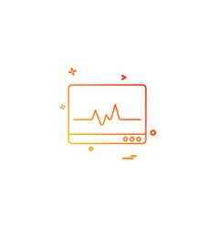 ecg icon design vector image