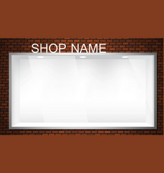 empty storefront vector image
