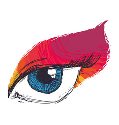 Eyes drawing sketch vector