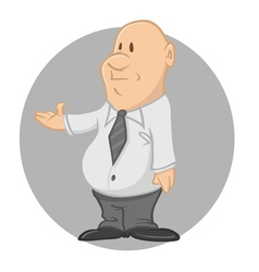 fat businessman vector image