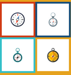 flat icon direction set of navigation direction vector image