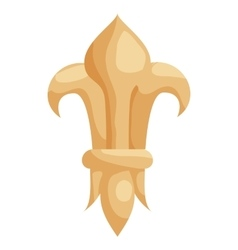 Fleur de lis icon in cartoon style vector image