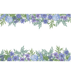 floral horizontal background with decorative vector image