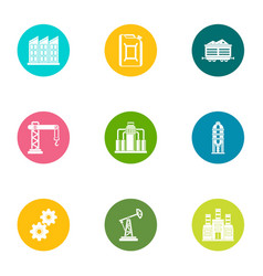 Formation icons set flat style vector