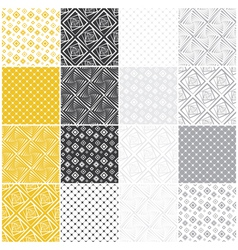 Geometric seamless patterns with squares vector