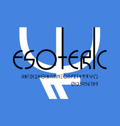 Greek decorative geometric sans serif font vector