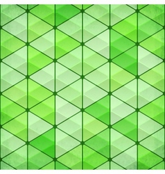 Green vintage triangles background vector image