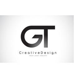 Gt g t letter logo design creative icon modern vector