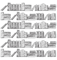 Hand drawn books vector
