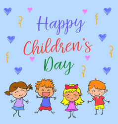 Happy childrens day style collection vector