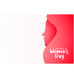 Happy womens day event banner with text space vector