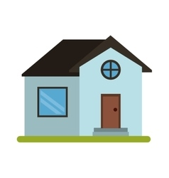 House home property round window vector