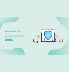 Internet security and data digital protection for vector