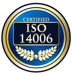 ISO 14006 vector image