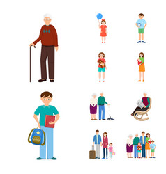 isolated object of family and people symbol set vector image