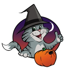 kitten halloween vector image