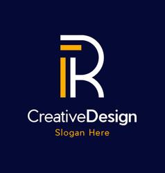 Letter r outline monogram creative modern logo vector
