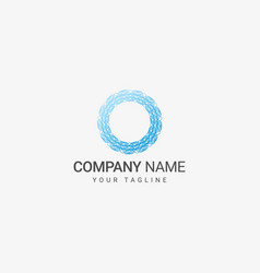 line art circle logo vector image