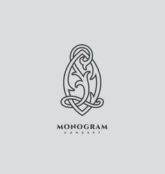 Luxury monogram lo vector