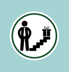 man gift icon vector image