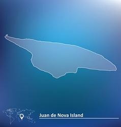Map of Juan de Nova Island vector