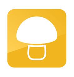 Mushroom outline icon vegetable vector