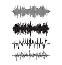 music background audio sound waves pulse vector image